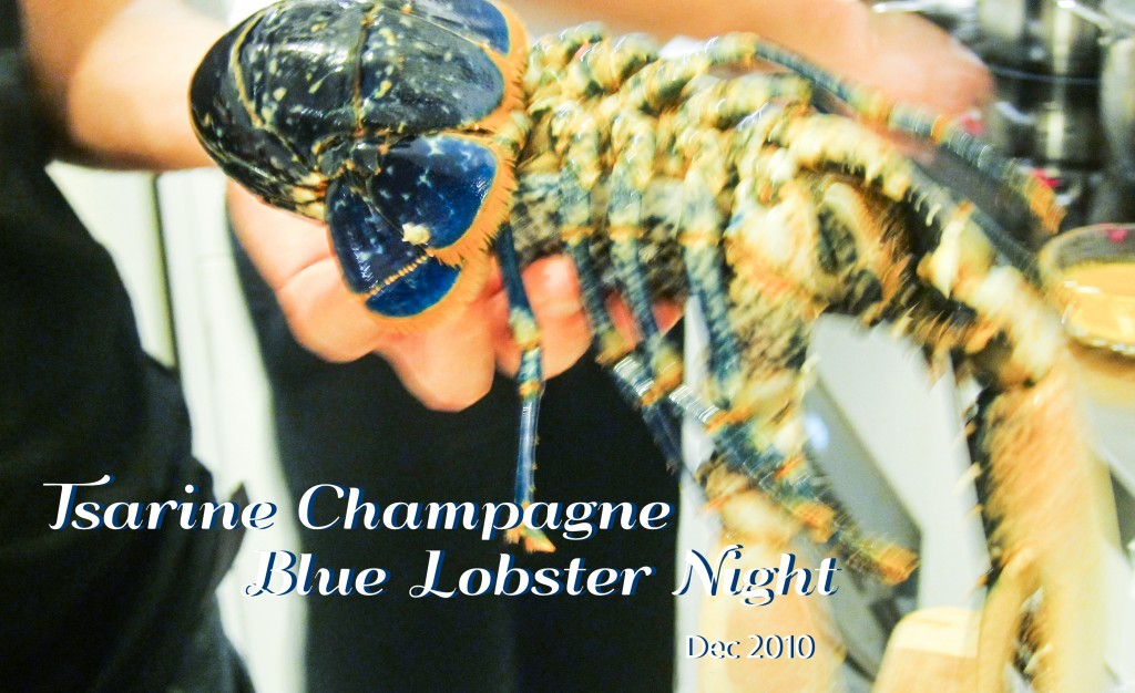 tsarine champagne blue lobster night